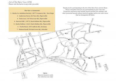 2018 Art of the Barn Map
